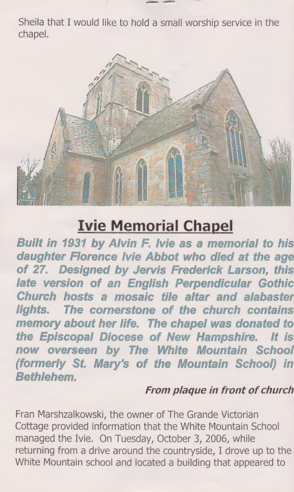 Ivie Memorial Chapel