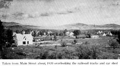railroad tracks and car shed
